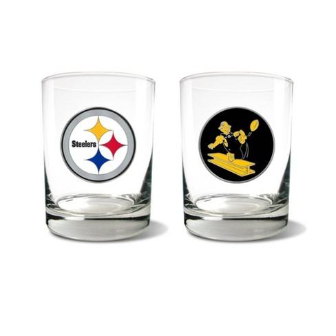 NFL Pittsburgh Steelers Rocks Glass Set - 2pc - image 1 of 1