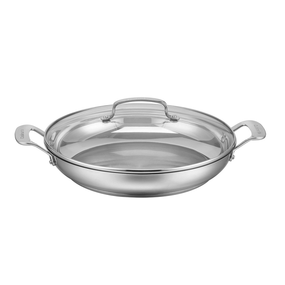 Cuisinart Classic Stainless 12 Everyday Pan With Cover, Silver