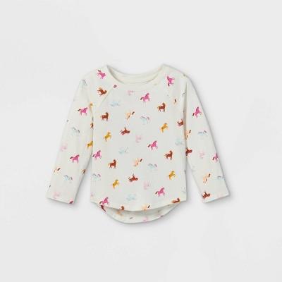 Toddler Girls' Unicorn Long Sleeve T-Shirt - Cat & Jack™ Cream
