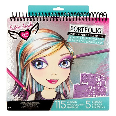 Fashion Angels Make-Up & Hair Design Sketch Portfolio Set