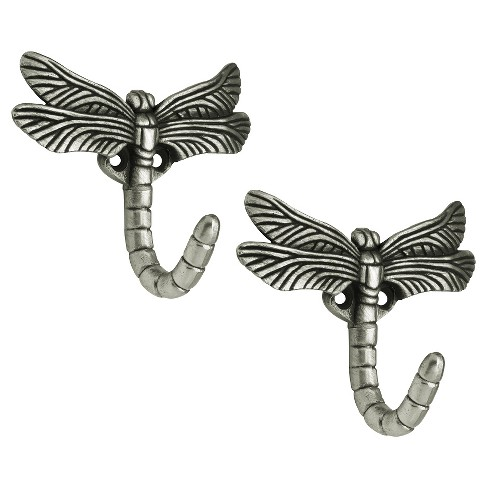 Brainerd Dragonfly Hook - Antique Pewter (Set of 2) - image 1 of 1