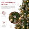 Best Choice Products Pre-Lit Pre-Decorated Holiday Christmas Tree w/ Flocked Tips, Metal Base - image 3 of 4