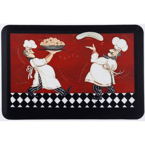 """24"""" X 36"""" Anti-Fatigue Kitchen Floor Mat Pizza Pasta Chefs - J&V Textiles"""