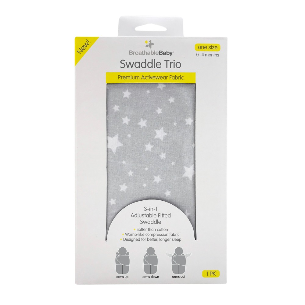BreathableBaby Swaddle Wrap - Gray