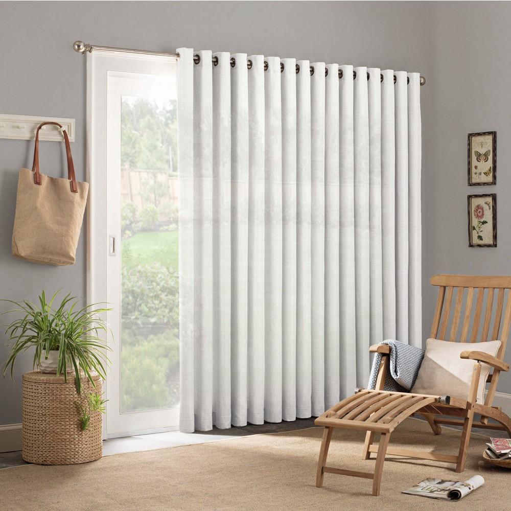 """Image of """"84""""""""x100"""""""" Key Largo Indoor/Outdoor Patio Door Curtain Panels White - Parasol"""""""