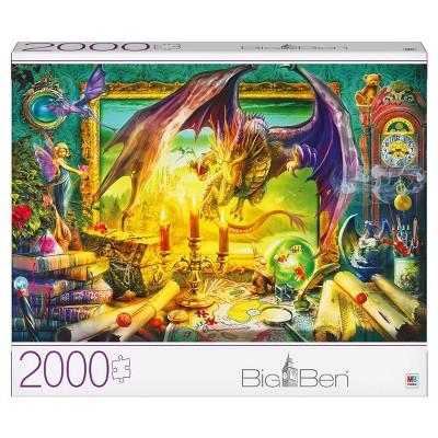 Milton Bradley Gray Board: Dragon Come to Life Jigsaw Puzzle - 2000pc