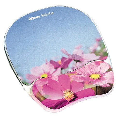 photo gel mouse pad wrist rest with microban pink flowers target