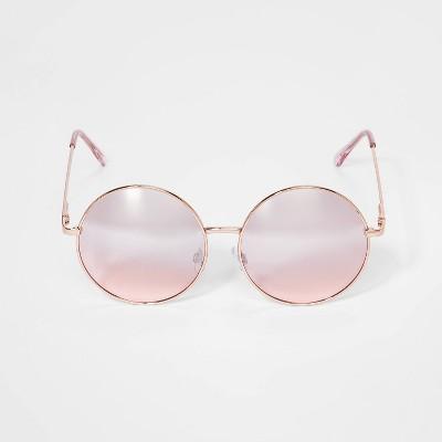 Girls' Round Metal Frame Sunglasses - art class™ Rose/Gold