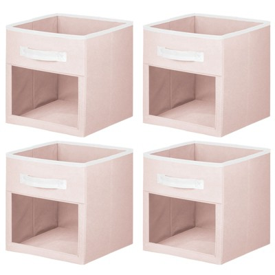 mDesign Kids Fabric Storage Organizer Cube - 4 Pack