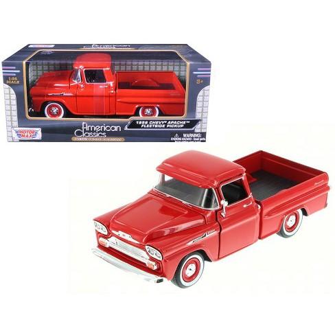 1958 Chevrolet Apache Fleetside Pickup Truck Red 124 Diecast Model