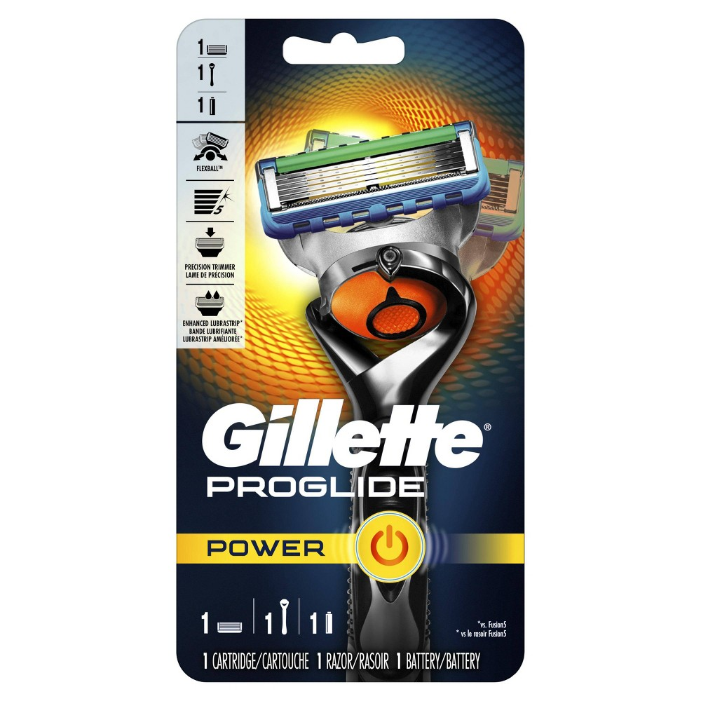 Image of Gillette ProGlide Power Men's Razor + 1 Razor Blade Refill
