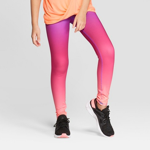 51a4951d3b02 Girls  Sunset Ombre Printed Performance Leggings - C9 Champion® Pink ...