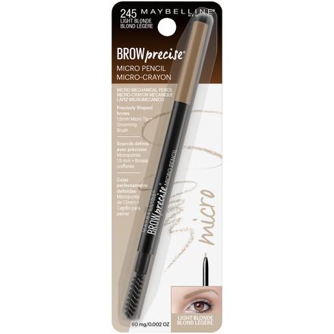 10e5b1aa410 Maybelline Eyestudio Brow Precise Micro Pencil 245 Light Blonde - 0.002oz :  Target