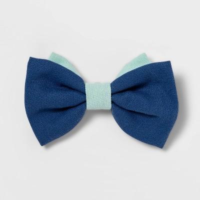 Keeping It Cool Dog Collar Slide Bowtie - Blue - Boots & Barkley™