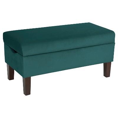Skyline Bedroom Velvet Storage Bench - Skyline Furniture