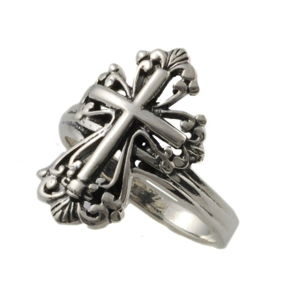 Elegant Cross Ring - Silver (9)