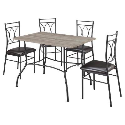 Shelby 5 Piece Rustic Wood U0026 Metal Dining Set   Rustic/Black   Dorel Living®