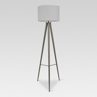 Delavan Metal Tripod Floor Lamp Nickel Includes Energy Efficient Light Bulb - Project 62™