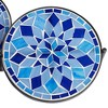 Teal Island Designs Blue Mosaic Black Iron Set of 3 Accent Tables - image 3 of 4
