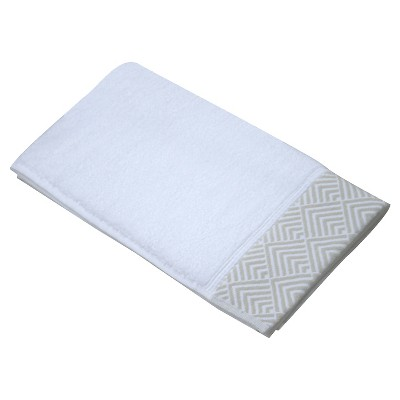 Echo Matelesse Hand Towel - White/Gray - Fieldcrest™