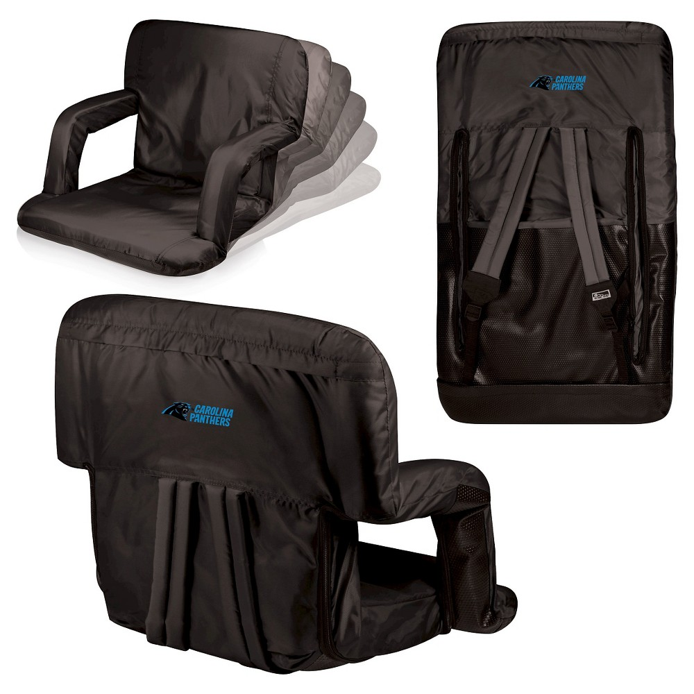 Carolina Panthers Ventura Seat Portable Recliner Chair By Picnic Time