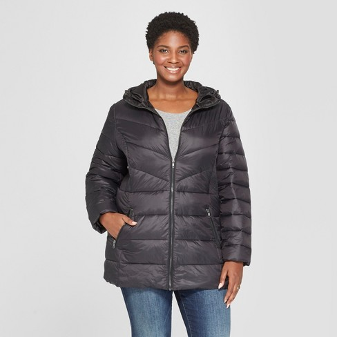 1342209aee553 Women s Plus Size Quilted Jacket - Ava   Viv™...   Target