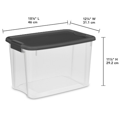 Sterilite 30 Qt Ultra Clear Storage Box With Gray Lid U0026 Latches : Target