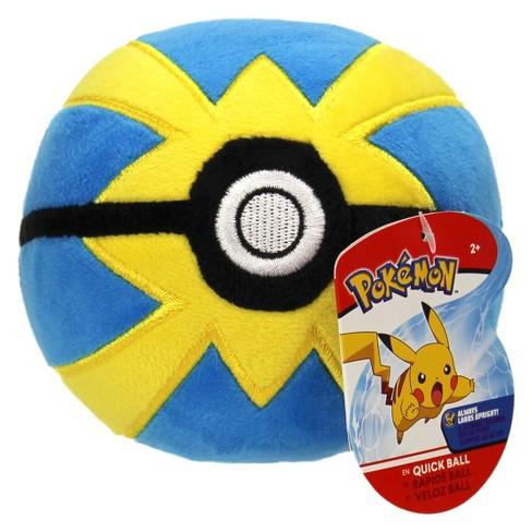 """Pokemon 4"""" Poke Ball Plush - Quick Ball - image 1 of 2"""