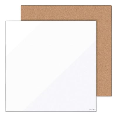 U Brands Tile Board Value Pack, 14 x 14, White/Natural, 2/Set 3888U0001