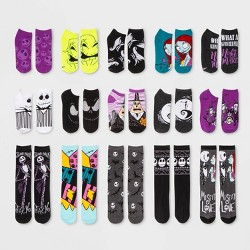 Women's Nightmare Before Christmas 15 Days of Socks Advent Calendar - Assorted Colors One Size