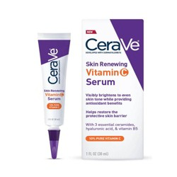 CeraVe Skin Renewing Vitamin C Face Serum With Hyaluronic Acid - 1 fl oz