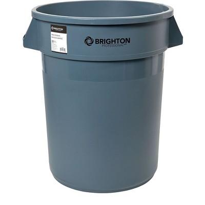 Brighton Round Trash Container Gray 32 Gallon 2625784
