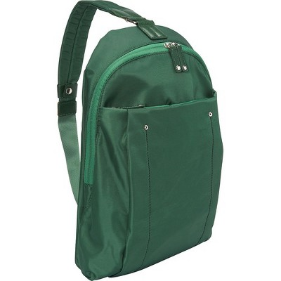 "WIB Miami City Slim Backpack for up-to 14.1"" Notebook , Tablet, eReader - Green - Twill Polyester - Twill Polyester, Microsuede - Shoulder Strap"
