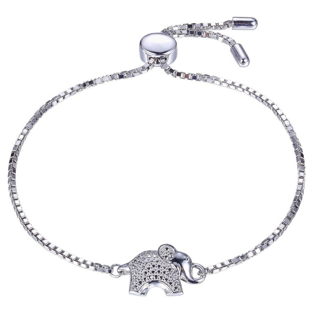 Sterling Silver No Stone Elephant Adjustable Bolo Bracelet, Girl's