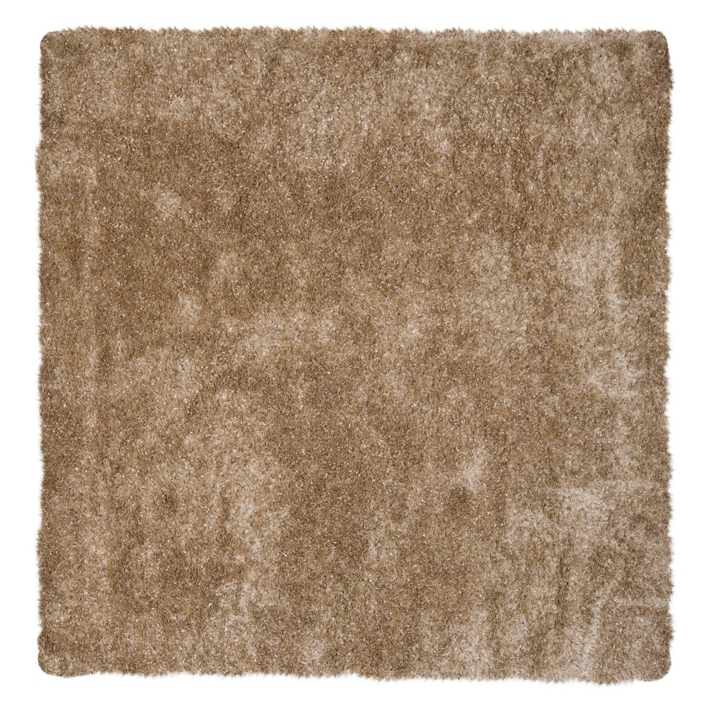 Natural Solid Tufted Square Area Rug - (7'X7') - Safavieh