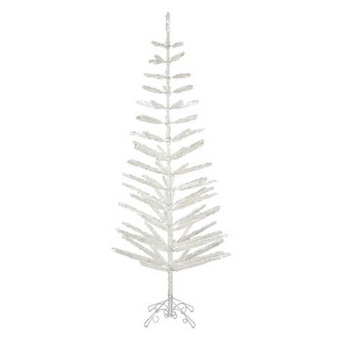 9ft Unlit Artificial Christmas Tree Slim Silver Feather - image 1 of 1