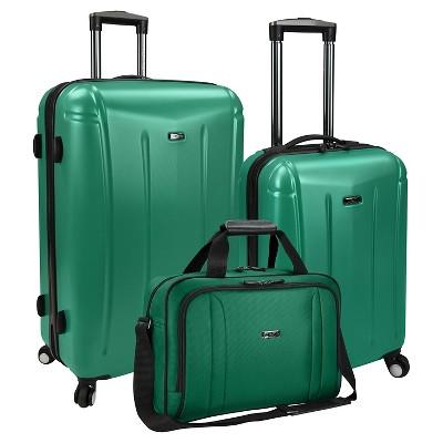 U.S. Traveler Luggage Set - Green