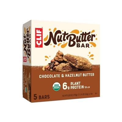CLIF Nut Butter Bar - Chocolate Hazelnut Energy Bars - 8.8oz/5ct