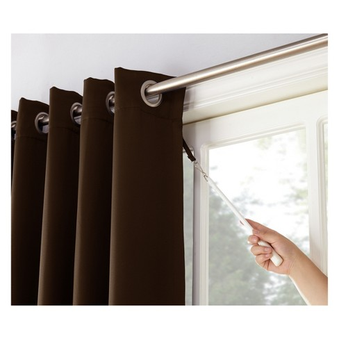 Kenneth Easton Extra Wide Blackout Sliding Patio Door Curtain Panel