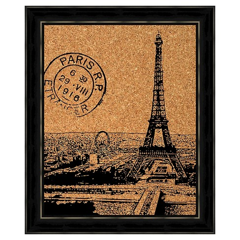Cork Board Wall Art - Paris Stamp - image 1 of 1