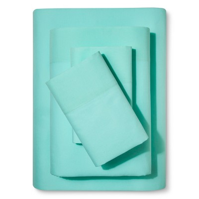 Solid 100% Cotton Sheet Set (Twin)Mint 3pc - Pillowfort™