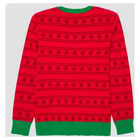 c3619e4a04a Men s Big   Tall Ugly Christmas Light-Up Let s Get Lit Sweater - Red    Target