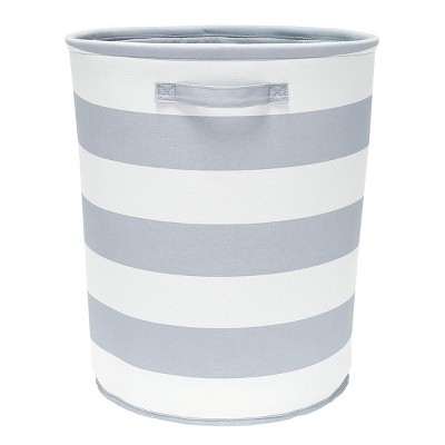 Round Fabric Floor Toy Storage Bin Gray - Pillowfort™