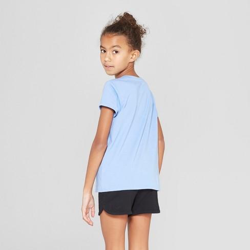 238b4ace83c1 Girls' Short Sleeve Tie Front Bee Flip Sequins T-Shirt - Cat & Jack™ Blue :  Target
