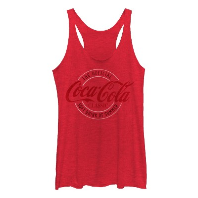 Women's Coca Cola Official Drink of Summer Racerback Tank Top