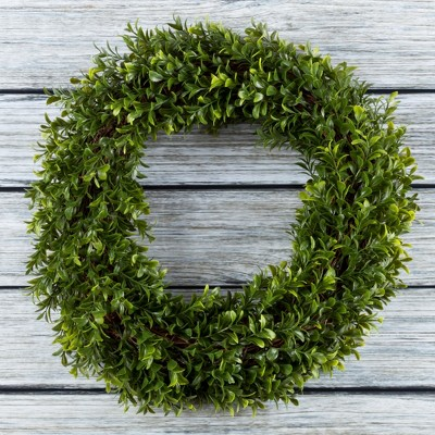 Round Artificial Hedyotis Wreath 15  - Pure Garden