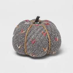 Medium Tweed with Stitch Fabric Harvest Pumpkin - Spritz™