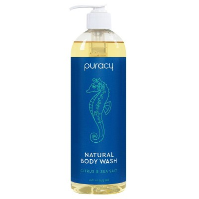 Puracy Citrus & Sea Salt Natural Body Wash Shower Gel - 16 fl oz