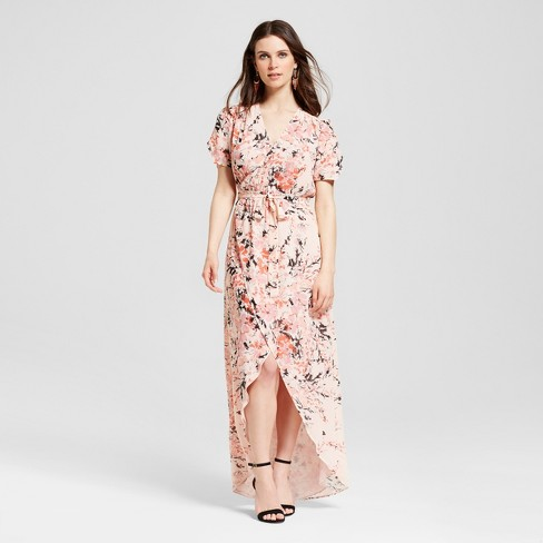f61a1aa71c Women s Floral Wrap Maxi Dress - S P By Standards And Practices   Target