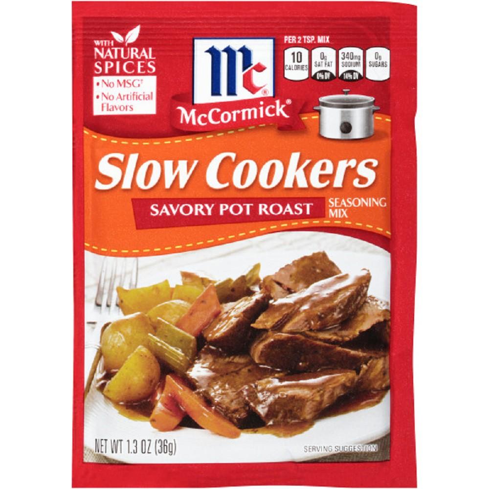 McCormick Slow Cookers Savory Pot Roast Seasoning 1.3 oz